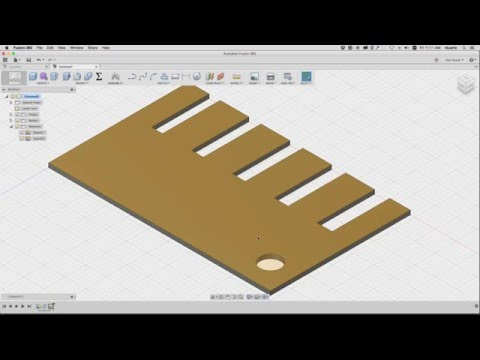 Creating a Laser Fit Gauge in Fusion 360