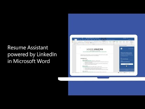Resume Assistant brings the power of LinkedIn to Word to help you craft your resume