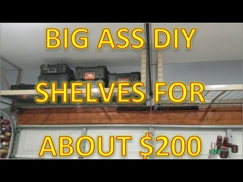 How to Install Overhead Garage Shelves   *Mohawk Dave's Garage*