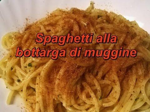 Spaghetti alla bottarga di muggine - Ricetta buonissima, facile e rapida