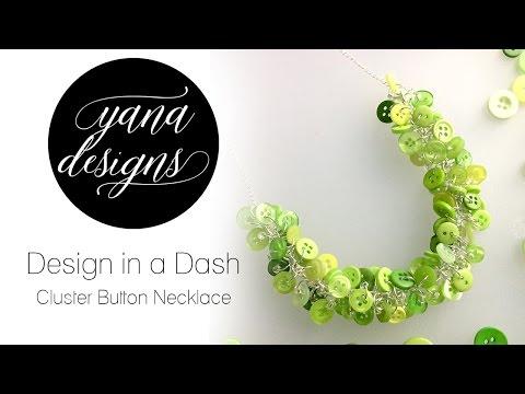 Cluster Button Necklace - Quick Vid