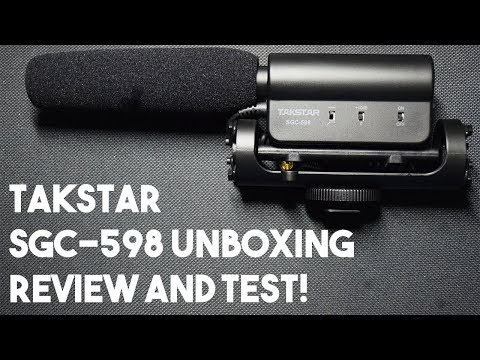 Takstar SGC-598 Microphone Unboxing, Review and Test!