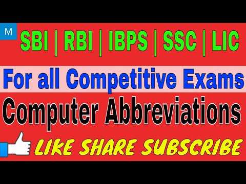 Computer abbreviations || computer abbreviations For all Competitive Exams