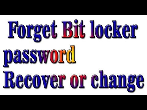 How To Forget Bit locker password and Recover or change In all Windows Urdu/Hindi English