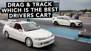Integra Type R vs Civic Type R Track Battle - Which Is The Best Type R!