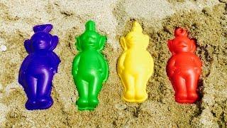 TELETUBBIES Building Sand Figures!