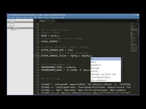 Arduino in C, E02: Makefile, I/O Ports, first program