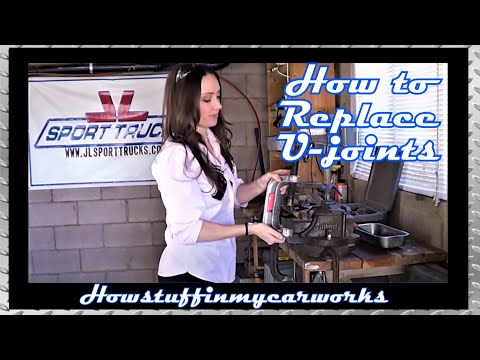 Pretty Girl shows how to replace a U-joint using a Ball Joint Press