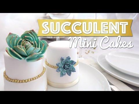 Succulent Mini Cakes Tutorial