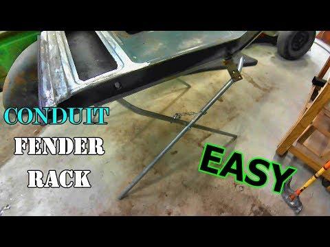DIY conduit work stand/fender rack
