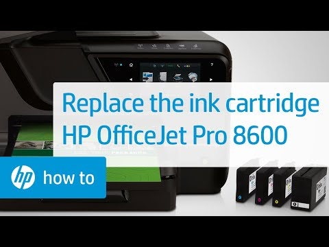 Replacing a Cartridge - HP Officejet Pro 8600 e-All-in-One