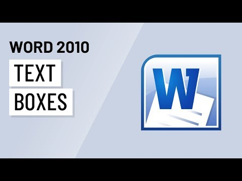 Word 2010: Text Boxes