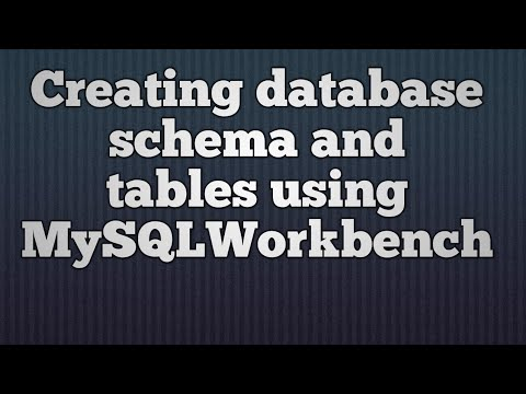 7.Creating database schema and tables using MySQLWorkbench