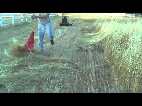 MowerZilla2, the walk-behind sickle bar mower, after cutting hay
