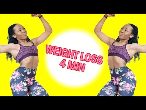 4-MIN WEIGHT LOSS WORKOUT FOR BEGINNERS - No Gym - No Equipment - At Home Workout to Get Fit