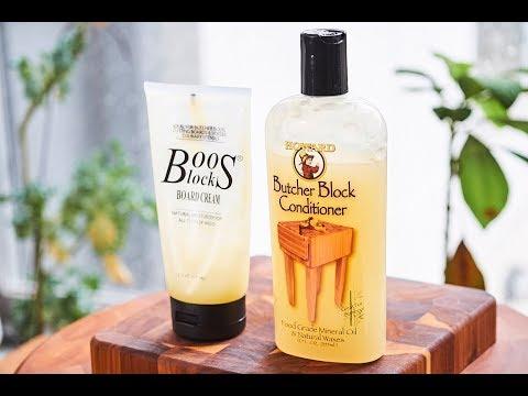 Boos Block Board Cream vs Howard Cutting Board Conditioner Review