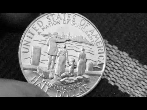 Ellis Island Commemorative Half Dollar Found In A Roll! & 2017 Proof Coin Roll Hunting