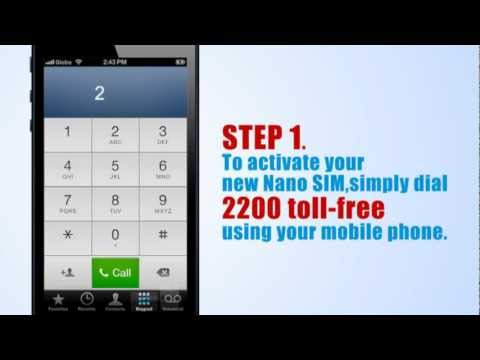 How to Activate Your Globe iPhone5 Nano Sim Card