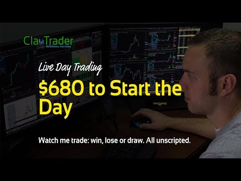 Live Day Trading - $680 to Start the Day