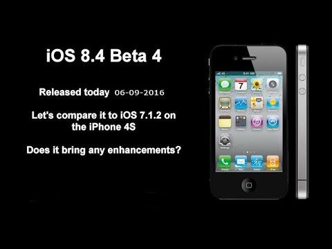 iOS 8.4 Beta 4 vs 7.1.2 on iPhone 4S