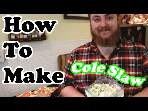 How To Make Cole Slaw (For Fish Tacos)