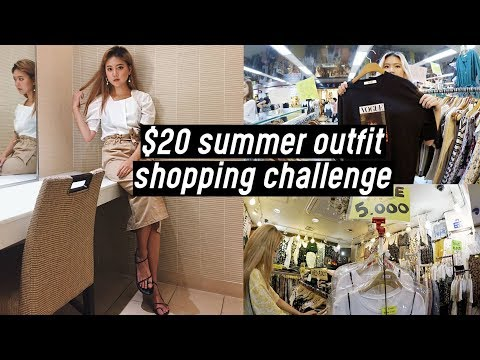 $20 Summer Outfit Shopping Challenge at Korea Yeongdeungpo Underground Mall | DTV #34