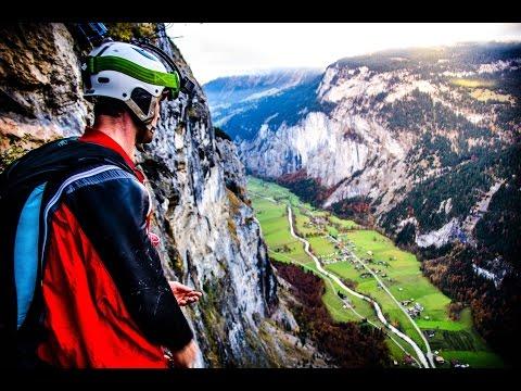Humans Can Fly - Lauterbrunnen base jump wingsuit