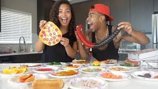 REAL FOOD vs GUMMY FOOD CHALLENGE!! (VERY FUNNY)