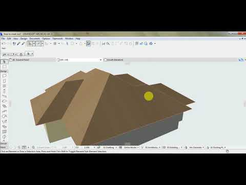 ArchiCAD Tutorial | Roof Modeling in ArchiCAD 21 and above