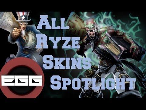 All Ryze Skins Spotlight | League of Legends Skin Review