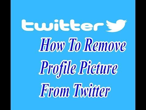 how to remove profile picture from twitter