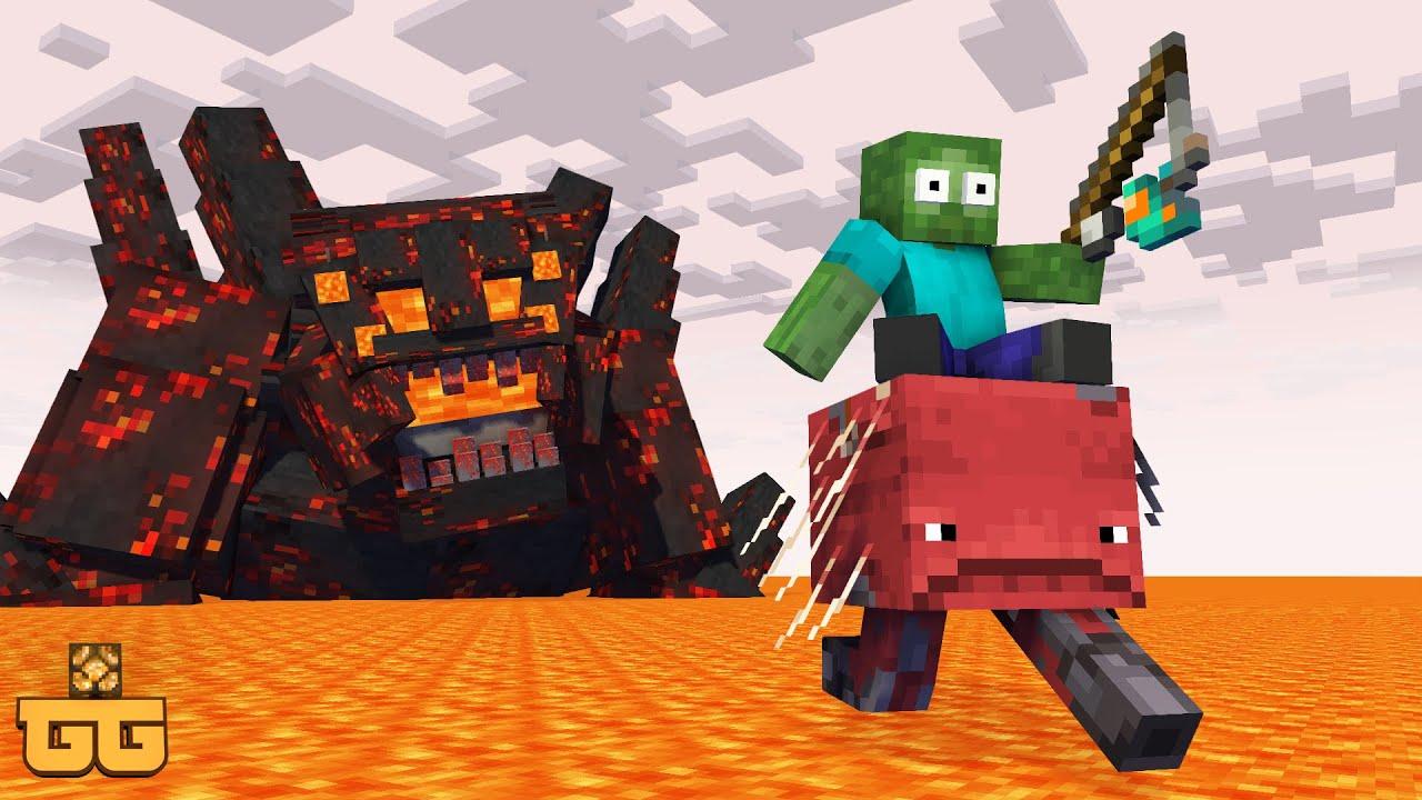 Monster School : FLOOR IS LAVA Challenge 2  - Minecraft Animation