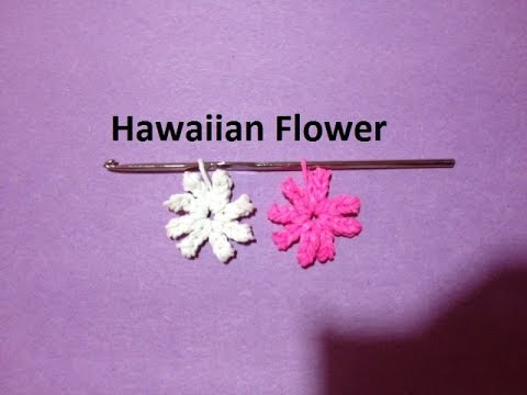How to Make a Rainbow Loom Hawaiian Flower Charm Just Using a Crochet Hook - Original Design