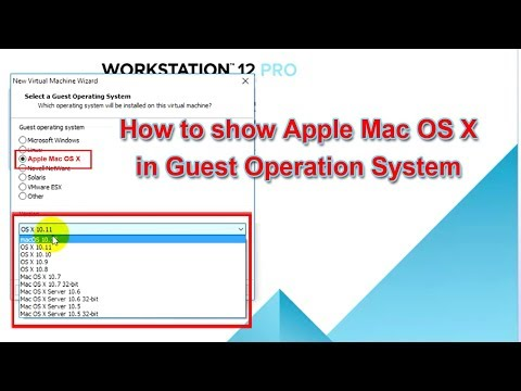 How to show Apple Mac OS X in Guest Operation System List on VMWare