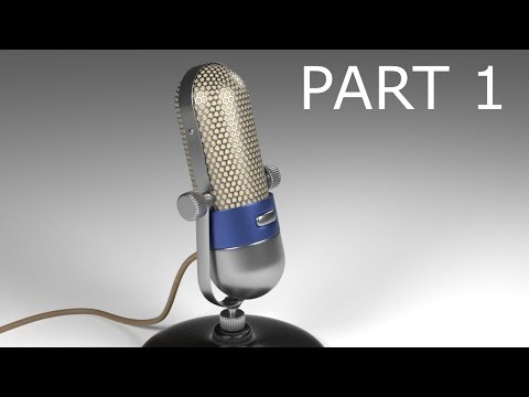 Blender Tutorial: Modeling a Vintage Microphone: Part 1