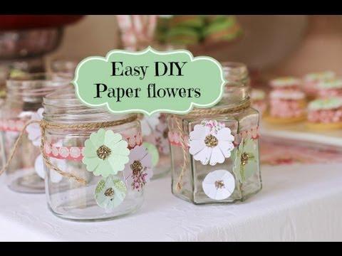 Pretty Paper Flower Rosette tutorial