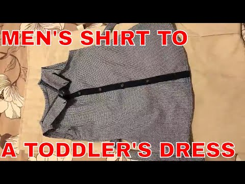 My thrifted transformation episode 3:Men's shirt to a toddler's dress