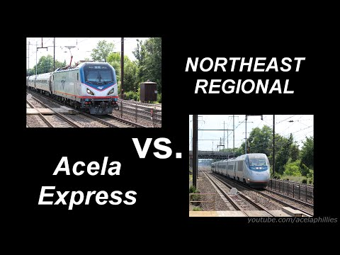Acela vs. Northeast Regional Drag Race! (Thanks for 1K Subs!)