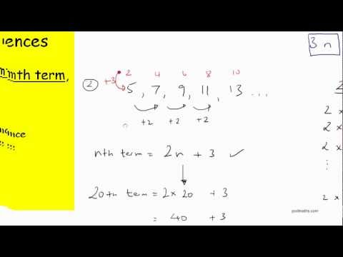 Number Sequences Nth Term
