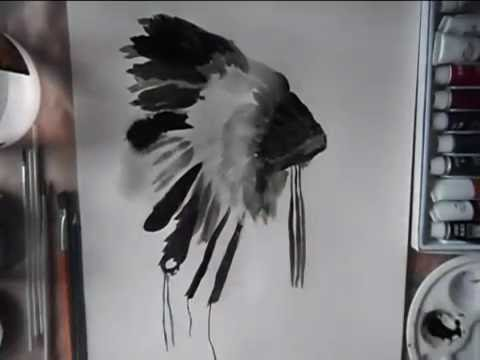 Watercolour Painting #2 headdress