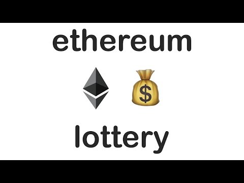 💰 Make your own lottery with Ethereum