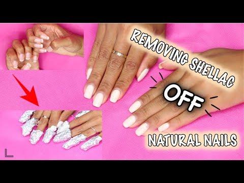 how to: REMOVE SHELLAC OFF NATURAL NAILS + At Home Nail Grooming