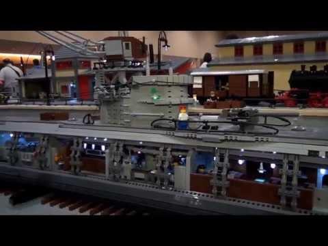 LEGO German WWII U-boat submarine - Brickworld Chicago 2013
