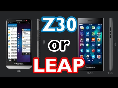The BlackBerry Z30 or LEAP?