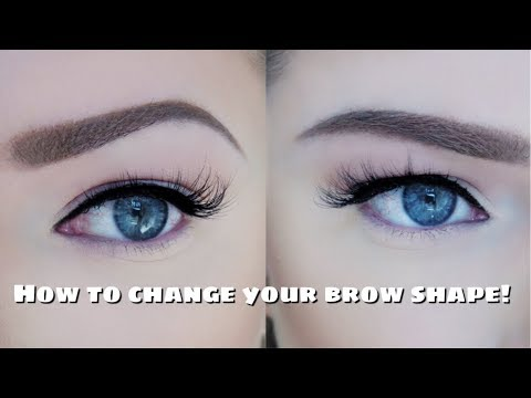 How to change your brow shape with makeup!