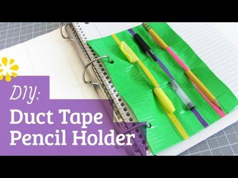 Back to School DIY Duct Tape Pencil Holder | Sea Lemon