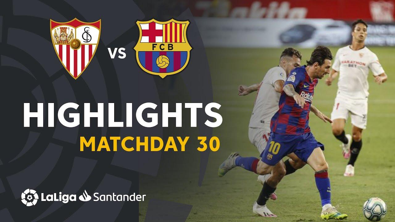 Highlights Sevilla FC vs FC Barcelona (0-0)