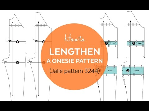How to Lengthen a Onesie (Pajama) Pattern (Jalie 3244)