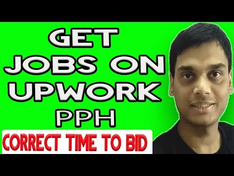 Tips for beginners to get jobs on upwork and pph   Correct time to bid on jobs   Hindi