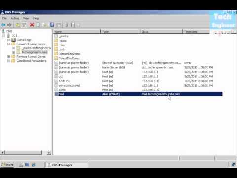 Create DNS Records in DNS - Windows Server 2008